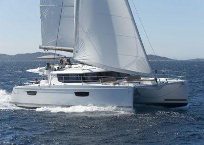 Catamaran Saba 50 en navigation