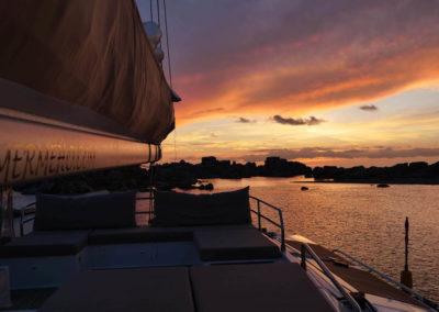 Catamaran Meho - Bome coucher soleil